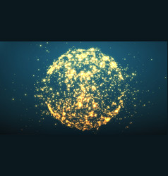 Abstract sphere explosion explosion vector