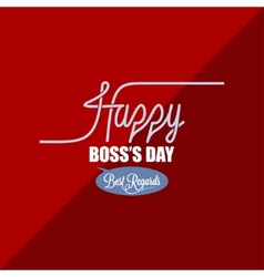 boss day vintage background vector image vector image