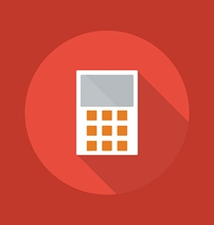 Business Flat Icon Calculator vector image vector image