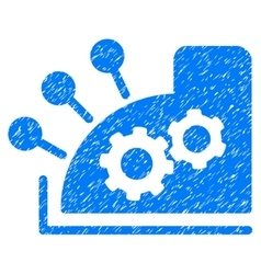 Cash register grainy texture icon vector