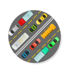 city traffic on top view flat icon vector image vector image