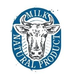 cow logo design template milk or farm icon vector image vector image