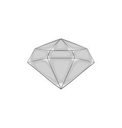 Diamond icon black monochrome style vector image vector image