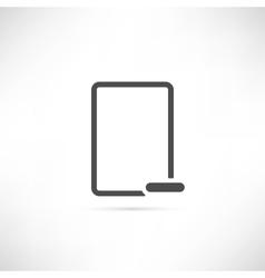 Empty minus icon vector
