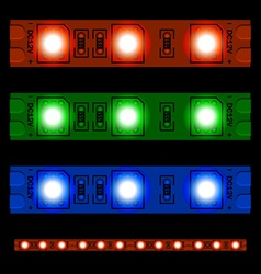 Eps10 glowing led light strip seamless vector