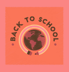 Flat shading style icon back to school globe vector