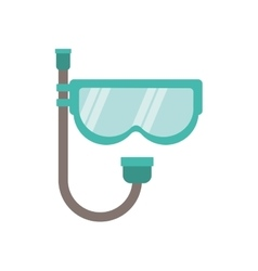 full color with mask of diving and snorkel vector image