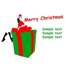 funky christmas vector image