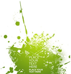 Green abstract vector image vector image