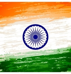 Grungy indian flag vector