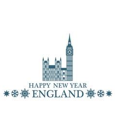 Happy new year england vector