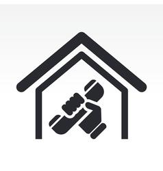 House phone icon vector