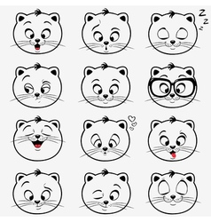 kittens emotions vector image