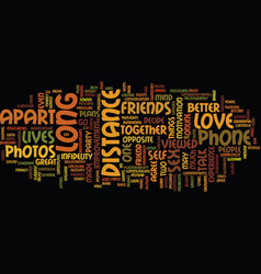 Long distance love text background word cloud vector