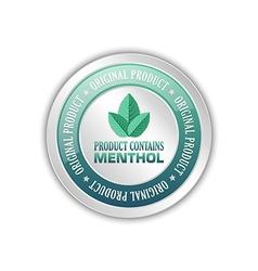 Menthol badge vector image
