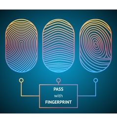 Pass with fingerprint vector