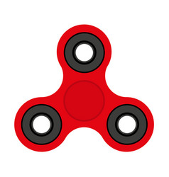 red spinner toy for stress removal flat design vector image vector image
