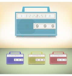 Retro radio vector image