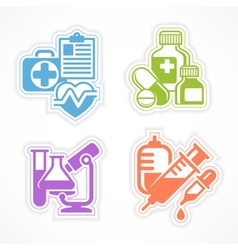 Set of color medicines symbols vector image