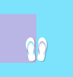 slippers violet blue color vector image vector image