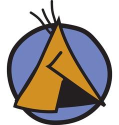 Tipi logo vector image