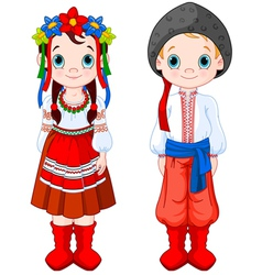 Ukrainian Boy and Girl vector image