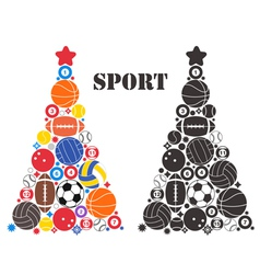 Unusual christmas tree sport vector