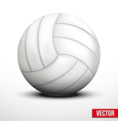 Volleyball in traditional one color on white vector