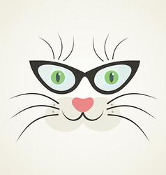 Cat in glasses vector