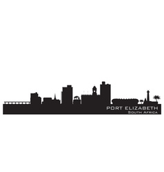 Port elizabeth africa city skyline silhouette vector