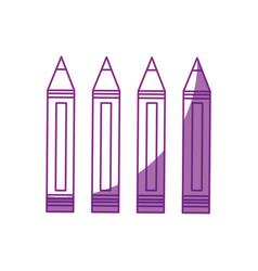 Set of pencils colored vector