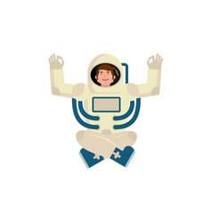 Astronaut yogi space yoga space man zen and vector