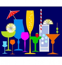 Colorful coctails vector