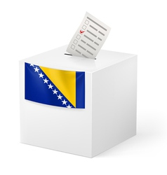 Ballot box with voting paper bosnia and vector