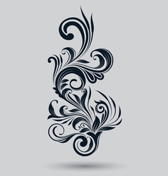 Single floral ornamental vector