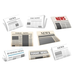 Newspaper icons isolated on white vector image
