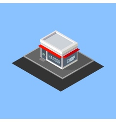 Isometric barber shop building vector