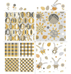 Cute patterns and elements vector
