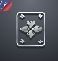 Game cards icon symbol 3d style trendy modern vector