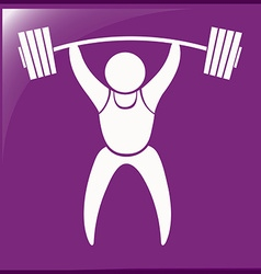 Sport icon design for weightlifting vector