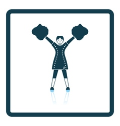 American football cheerleader girl icon vector