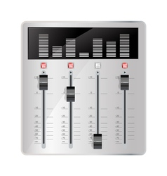 audio mixing panel vector image vector image