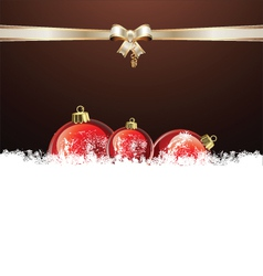 Christmas brown design vector image