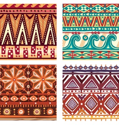 Color seamless tribal texture vector image vector image