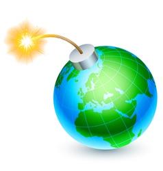 Earth bomb concept vector image