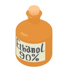 Ethanol in bottle icon isometric 3d style vector image