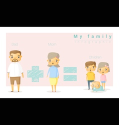 Family background and infographic 2 vector