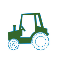 Farm tractor vehicle vector