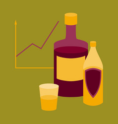 flat icon on stylish background alcohol vector image vector image