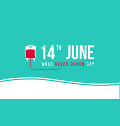 Flat world blood donor day vector